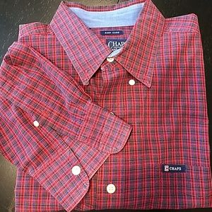 Men's Chaps Button Down Shirt sz L